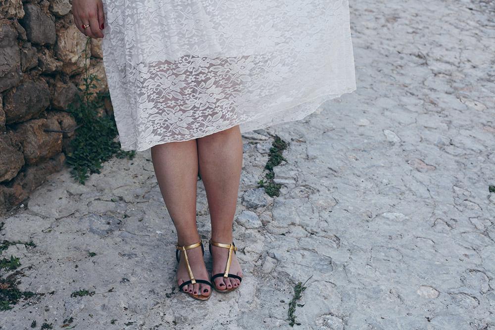 Falda de encaje y camiseta rayas-6