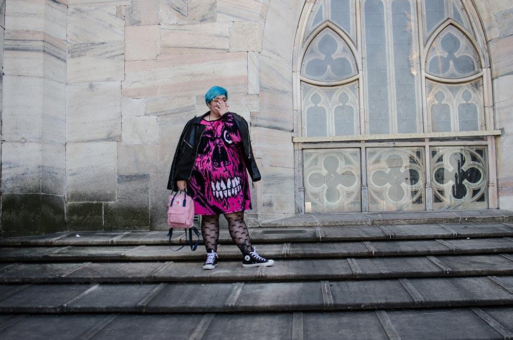 Vestido Zombie Rosa en el Duomo