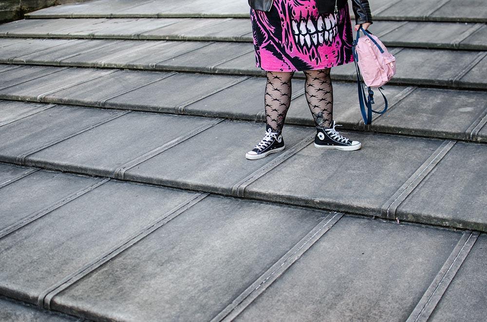 Vestido Zombie Rosa en el Duomo5