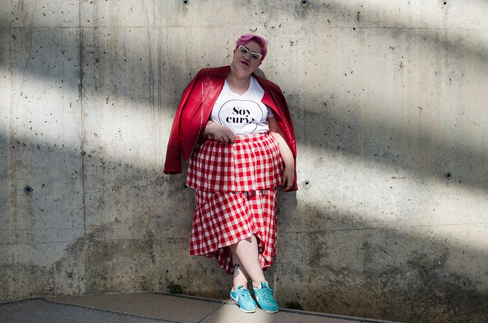 Falda Vichy Camiseta Soycurvy