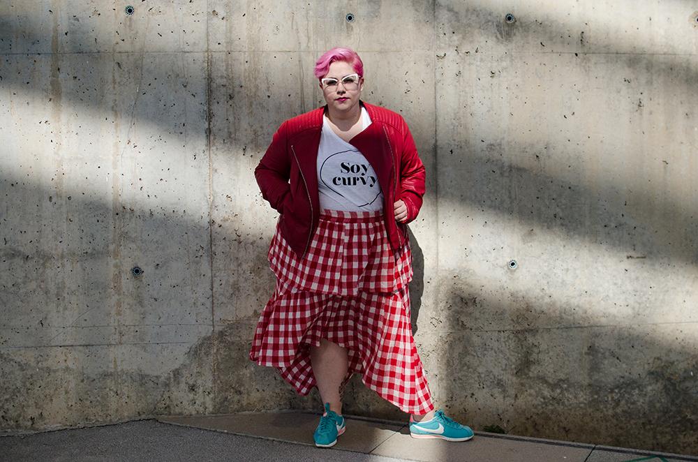 Falda Vichy Camiseta Soycurvy2