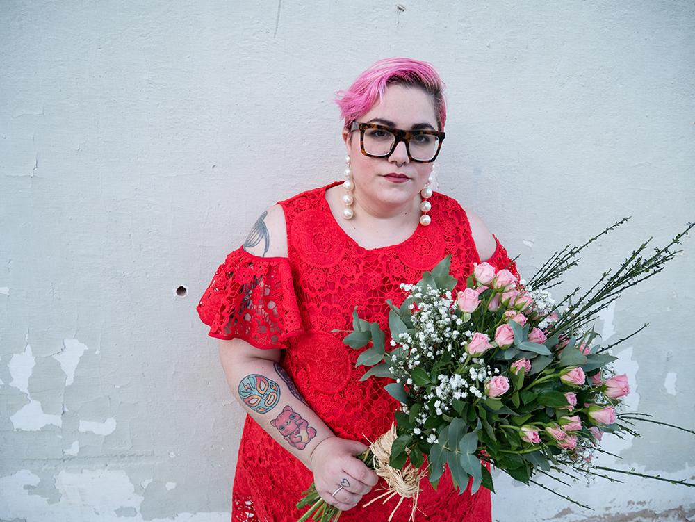 Vestido Crochet Rojo y Flores2