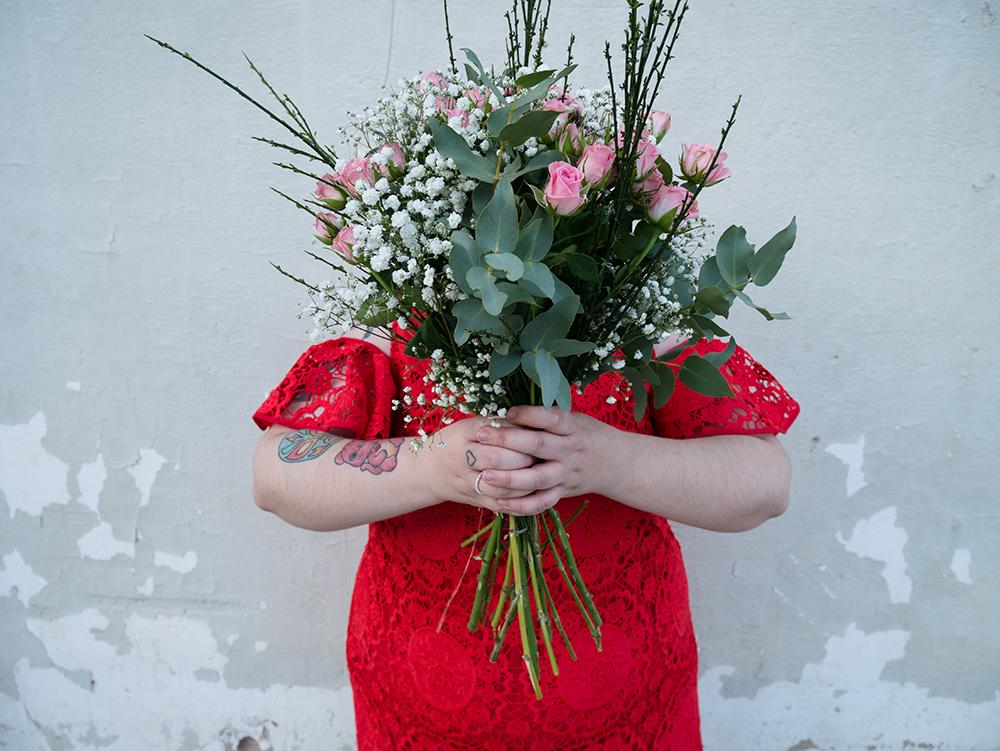 Vestido Crochet Rojo y Flores4