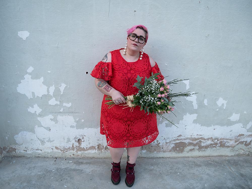 Vestido Crochet Rojo y Flores5