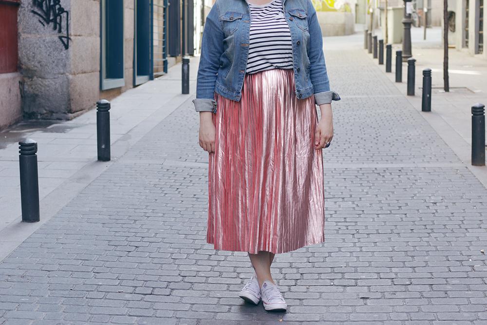 Falda metalizada-soy curvy