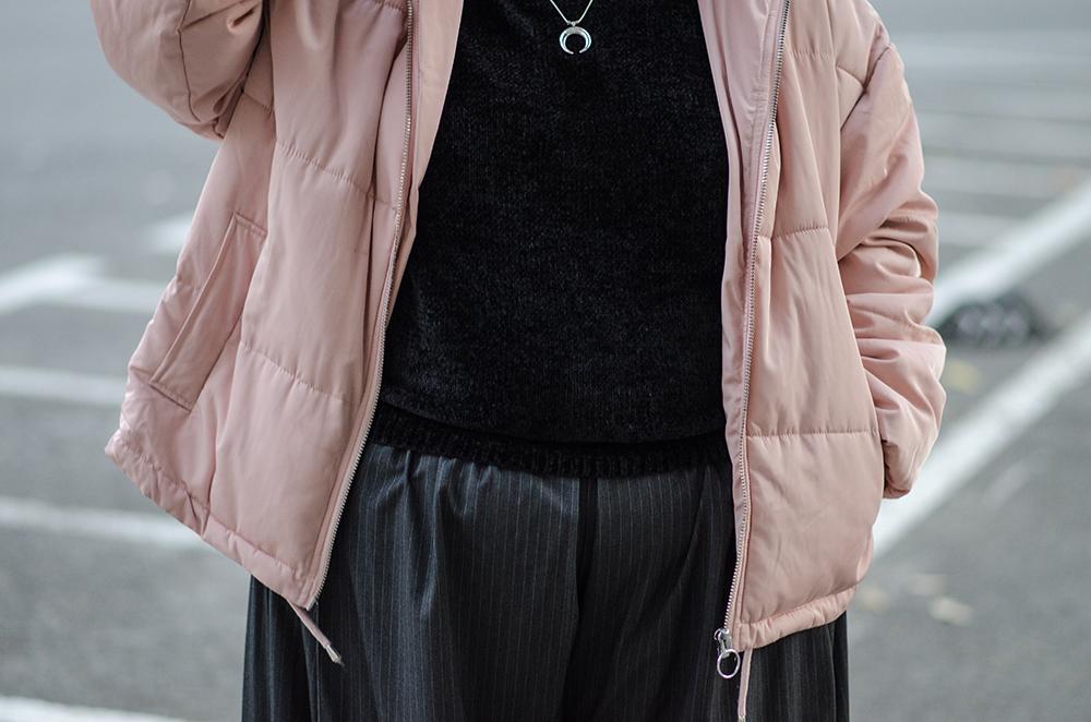 Chaqueta acolchada rosa1
