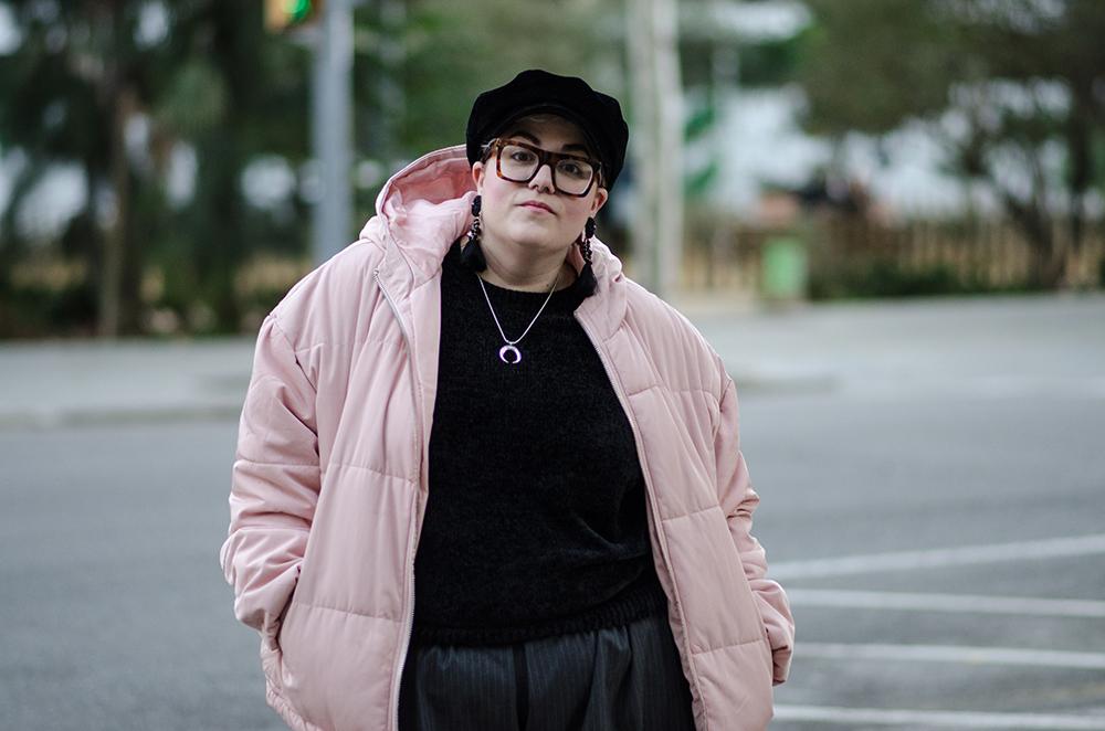 Chaqueta acolchada rosa2